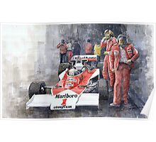 James Hunt Monaco GP 1977 McLaren M23 Poster