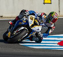 Chaz Davies at Laguna Seca 2013 by corsefoto