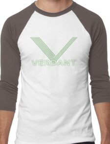 Verdant Night Club Logo - Neon Lines Men's Baseball ¾ T-Shirt