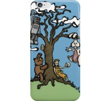 Teddy Bear And Bunny - Their Special Tree iPhone Case/Skin