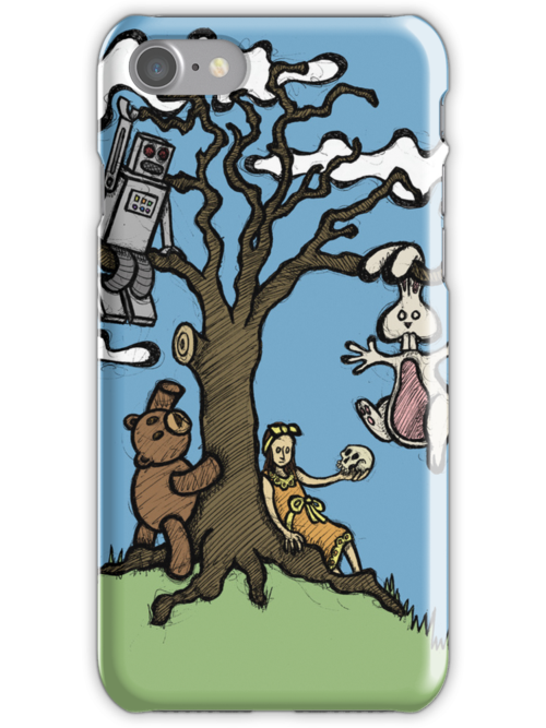 Teddy Bear And Bunny - Their Special Tree by Brett Gilbert