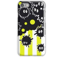Soot Sprites with Yellow Stripes  iPhone Case/Skin