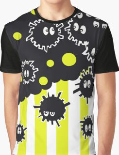 Soot Sprites with Yellow Stripes  Graphic T-Shirt