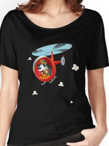 Helicopter dog Women's Relaxed Fit T-Shirt