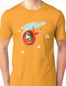 Helicopter dog Unisex T-Shirt
