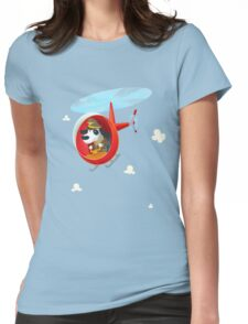 Helicopter dog Womens Fitted T-Shirt