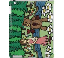 Teddy Bear And Bunny - Please Take It iPad Case/Skin