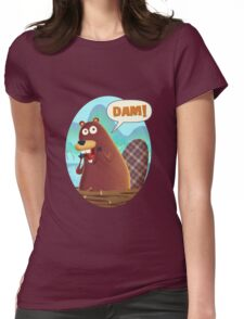 Dam! Beaver Womens Fitted T-Shirt