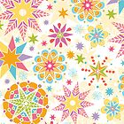 Colorful holiday stars pattern by oksancia