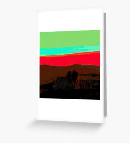 Sunset at Egremni  Greeting Card