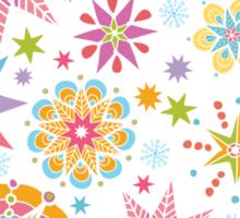 Colorful holiday stars pattern Sticker