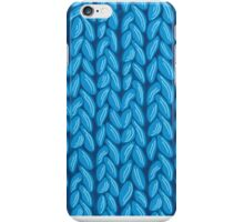 Blue knit sweater fabric pattern iPhone Case/Skin