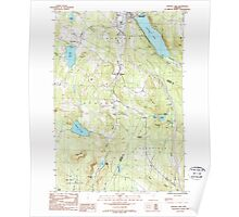 USGS Topo Map  Vermont VT Crystal Lake 337387 1986 24000 Poster