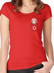 Pocket Sakura Women's Fitted Scoop T-Shirt