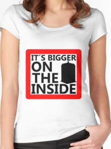 It´s Bigger On the Inside -Sign Women's Fitted Scoop T-Shirt