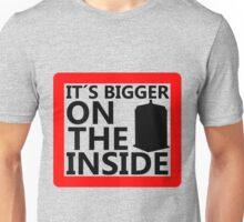 It´s Bigger On the Inside -Sign Unisex T-Shirt