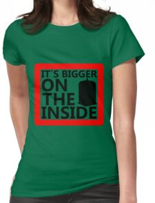 It´s Bigger On the Inside -Sign Womens Fitted T-Shirt