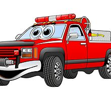 Pick Up Fire Truck by Graphxpro