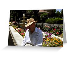 Mike in the sun Greeting Card