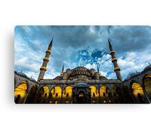 Illuminated: Blue Mosque in Istanbul, Turkey  Canvas Print