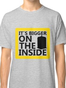 It´s Bigger On the Inside -Yellow Sign Classic T-Shirt