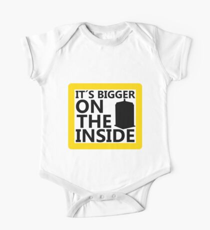 It´s Bigger On the Inside -Yellow Sign One Piece - Short Sleeve
