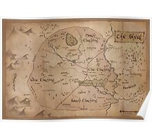 Map of the Shire Poster