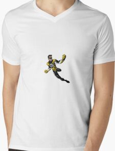 Voluntaryist Comic Hero Sticker Mens V-Neck T-Shirt