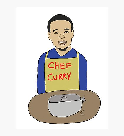 Chef Curry - Stephen Curry Illustration Photographic Print