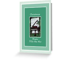 Christmas Music Card, Piano Greeting Card