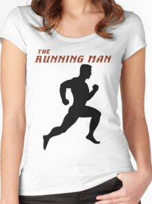 The Running Man Women's Fitted Scoop T-Shirt