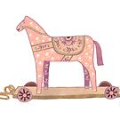 Pink Rocking Horse by Yuliya Art