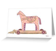 Pink Rocking Horse Greeting Card