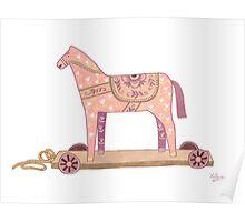 Pink Rocking Horse Poster