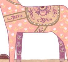 Pink Rocking Horse Sticker