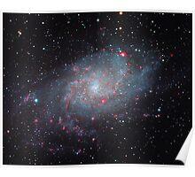 M33 – Triangulum Galaxy (YahooNews and Space.com) Poster
