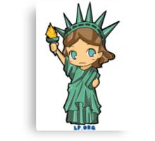 Lil Libby the Libertarian Canvas Print