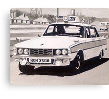 Rover P6 3500 V8 Police Car Canvas Print