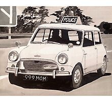 Mini Cooper S Police Car Photographic Print