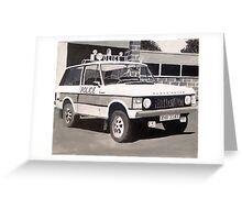 Range Rover Police Car Greeting Card