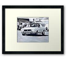 'The Sweeney' Ford Granada 3.0 Ghia Framed Print