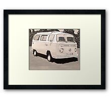 VW Type 2 Campervan Framed Print
