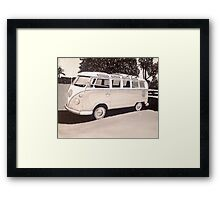 VW Type1 Bus Framed Print
