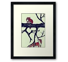 Foxes First Meeting Framed Print