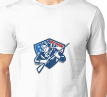American Frontiersman Patriot Stars Stripes Flag Unisex T-Shirt