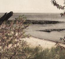 Vintage Lake Superior Beach Sticker