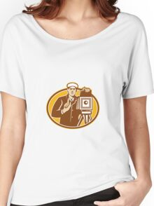 Photographer Vintage Camera Front Retro Women's Relaxed Fit T-Shirt