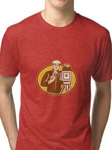 Photographer Vintage Camera Front Retro Tri-blend T-Shirt
