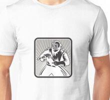 Sandblaster Sand Blaster Woodcut Retro Unisex T-Shirt