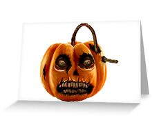 Terror pumpkin for Halloween Greeting Card
